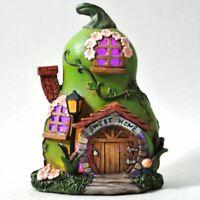 Pear House Garden Ornament LED Light Elf Pixie Fairy Home Decoration