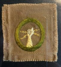 BOY SCOUT #3 ELECTRICITY 1911-1919 MERIT BADGE (TYPE AA) OVERSIZED GPOC
