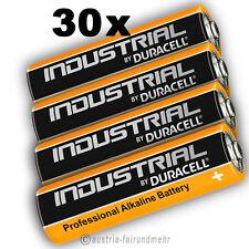 30x MIGNON AA LR6 MN1500 Batterie DURACELL INDUSTRIAL Folie