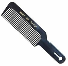 Marvy Flat Top Barber's Hair Clipper Cutting Comb 904 (Black)