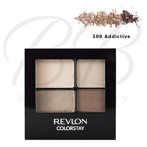 REVLON ColorStay 16hr Quad Eyeshadow Palette with Applicator - 500 Addictive NEW