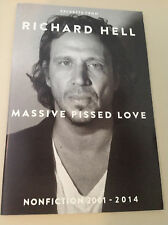 NEW  RICHARD HELL  Massive Pissed Love  ARC  ADVANCE READER UNCORRECTED EXCERPTS