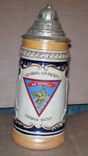 Us Naf Naval Air Facility Sigonella Catania Sicily Beer Stein With Lid