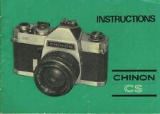 Chinon CS Instruction Manual original
