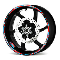 Motorcycle wheel decals stickers rim stripes 17inch For Honda Racing HRC