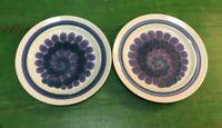 FRANCISCAN EARTHENWARE MOONDANCE Set of 2 Vintage Dinner Plates 10.5 Blue Purple