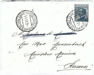 71552 - EGEO Calimno CALINO - Storia Postale - Sass  5 ISOLATO su BUSTA  1914
