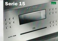 ROTEL Serie 15 audio Katalog Heft  B1215