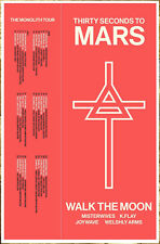 THIRTY SECONDS TO MARS The Monolith Tour 2018 Ltd Ed RARE Poster! America 30STM