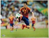 DAVID VILLA Signed 11x14 Photo #1 Auto SPAIN Barcelona NYCFC ~ Beckett BAS COA