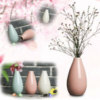 Mini Vase Pottery Flower Pot Smooth Ceramic Plant Office Home Decoration
