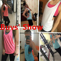 Women Sports-Running Fitness Exercise Jogging Gym Yoga Vest Tank Top Singlet Hot