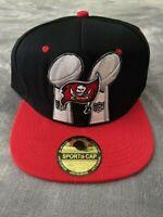 TAMPA BAY BUCCANEERS SUPER BOWL 2X CHAMPIONS NFL LOMBARDI TROPHY CAP HAT A15 NEW