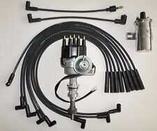 FORD 351C/M-400-429-460 BLACK Small HEI Distributor + 45K Coil +SPARK PLUG WIRES