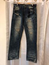 Mens Brooklyn Xpress Size 34 x 32 Dark Blast Denim Jeans Pants 34 Waist x 32 lg