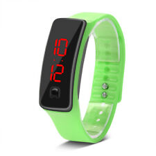 LED Digital Screen Silicone Strap Sports Watch Mens Women Boys Wristwatches Gift