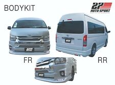 BODY KITS SKIRT SPOILER SET Fit Toyota Hiace Commuter Van 2014 - 2018 In Silver