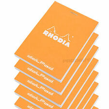 Set of 10 Rhodia Orange A7 dotPad Dot Matrix Grid 3D Paper Drawing Pads Notepads
