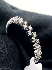LADIES DIAMOND WEDDING BAND 14K WHITE GOLD 0.19CT I1/I2