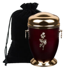 Memorial Ashes Cremation Urn for Adult with Rose Funeral urn for Human ashes.