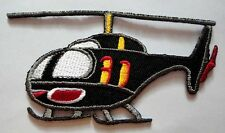 CUTE PRETTY BLACK HELICOPTER FOR KIDS Embroidered Iron on Patch Free Shipping