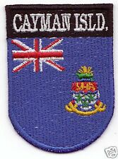 CAYMAN ISLANDS Country Flag Patch Shield Style