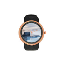 Rose Gold Blue Lagoon Iceland Volcano Watch Luxury Quality Scratch Water Proof