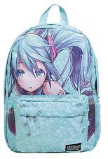 Hatsune Miku Kawaii Music Note School Book Bag Backpack NWT!