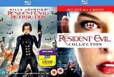 Resident Evil Movies Complete  Collection  5 Movies Blu Ray Collection Brand New
