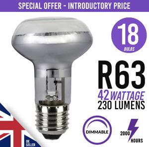 18x Dimmable Spot Light Bulb Halogen 240v 42W = 60Watt E27 Screw Fit Bulbs R63