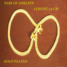 Anklet Bracelet Payal Kapa Anklets Traditional Unique Indian Gold-Plated