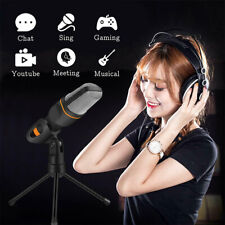 Professional Condenser Sound Podcast Studio Microphone For PC Laptop MSN Skype e