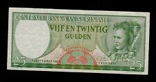 SURINAME  25  GULDEN 1963   PICK # 122  VF  BANKNOTE.
