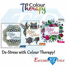 Colour Therapy Relaxing Colouring Book Light Weight Animal Pattern Floral Design