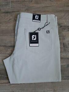 NEW FootJoy 5 Pocket Performance Golf Pants Stone 34 X 34