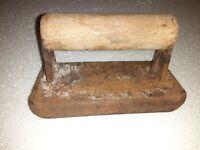 Vintage Cement Masonry Concrete Edger Hand Tool- Wood handle Cast Iron**
