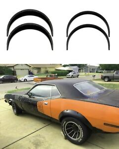 """Fender Flares for Plymouth Cuda JDM wide body kit ABS Barracuda 2.0""""+3.5""""4pcs KL"""