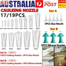 17/19PCS Silicone Caulking Finisher Tool  Scraper Set Nozzles Spatulas Filler AU