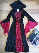 Red and Black Wicked Sorceress Costume Girl's Size Small - NWT