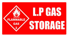 L.P.G GAS STORAGE safety decal sticker for caravan motorhome camper trailer bbq