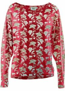 BON PRIX RED FLORAL TOP SIZE M OR UK 14 - 16 NEW