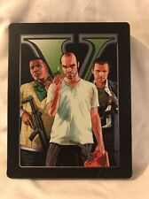 Grandtheft Auto Five Ps3 Metal Game Case Collectors Edition With Map
