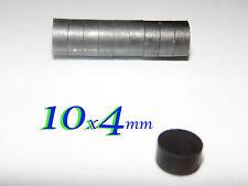 32  pezzi 10x4 mm  MAGNETI in FERRITE strong Y30 BH MAGNETE disco calamite