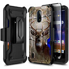 For Nokia C2 Tava / C2 Tennen Case, Holster Clip Phone Cover + Screen Protector