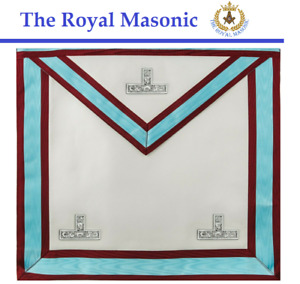 New Masonic Standard Mark Degree Worshipful Master WM Apron with Pocket Lambskin