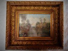Huile , Paysage bord de rivière, signé  réf/ A 18/35