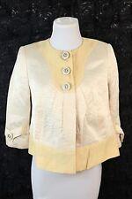 C23 People Like Frank Emil Rutenberg Yellow Ivory Babydoll Crinkle Jacket 0 XS