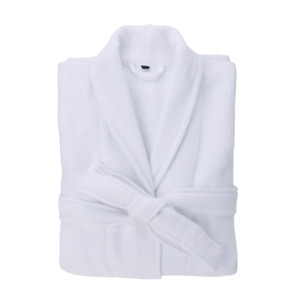Luxury Soft Unisex Waffle Bath robe 100% Cotton Ladies White Nigh gown