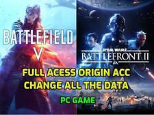 Battlefield V Pc + SWBF 2 - PC Game - Region Free - Origin Account Full Acess
