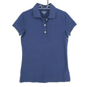 NAUTICA Navy Blue Polo Neck Top T Shirt Size XS
